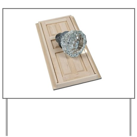 Clear Crystal Knob Door Yard Sign