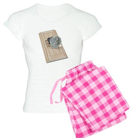 Clear Crystal Knob Door Women's Light Pajamas