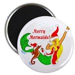 "Merry Mermaid Bulk 2.25"" Magnet (10 pack)"