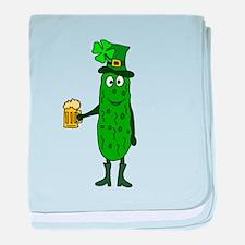 Pickle St. Patrick's Day baby blanket