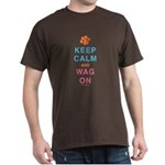Keep Calm Wag On Dark T-Shirt