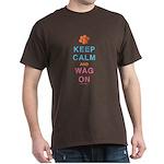 Keep Calm Wag On Dark T-Shirt