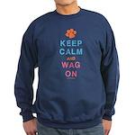 Keep Calm Wag On Sweatshirt (dark)