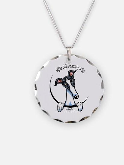 White Black Greyhound IAAM Necklace
