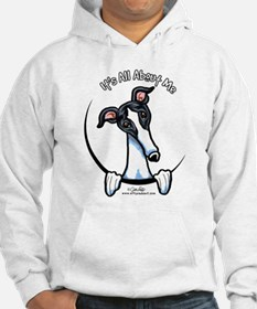 White Black Greyhound IAAM Hoodie