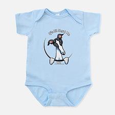 White Black Greyhound IAAM Infant Bodysuit