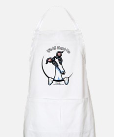 White Black Greyhound IAAM Apron