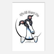 White Black Greyhound IAAM Postcards (Package of 8