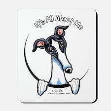 White Black Greyhound IAAM Mousepad