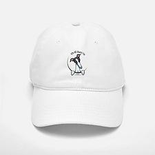 White Black Greyhound IAAM Baseball Baseball Cap