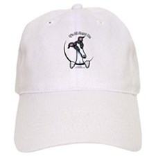 White Black Greyhound IAAM Baseball Cap