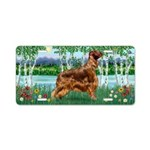 Birches/Irish Setter Aluminum License Plate