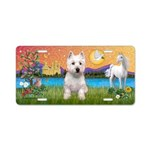 Fantasy Land Westie Aluminum License Plate