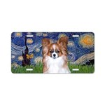 Starry - Red Sable Papillon Aluminum License Plate
