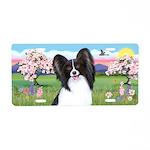 Blossoms - Papillon #1 Aluminum License Plate