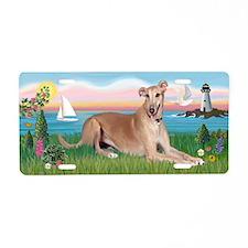 Lighthouse-Greyhound (ld) Aluminum License Plate