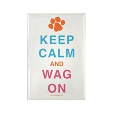 Keep Calm Wag On Rectangle Magnet