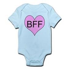BFF, best friends, fun, heart! Infant Bodysuit