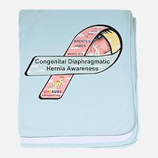 Brenden James CDH Awareness Ribbon baby blanket