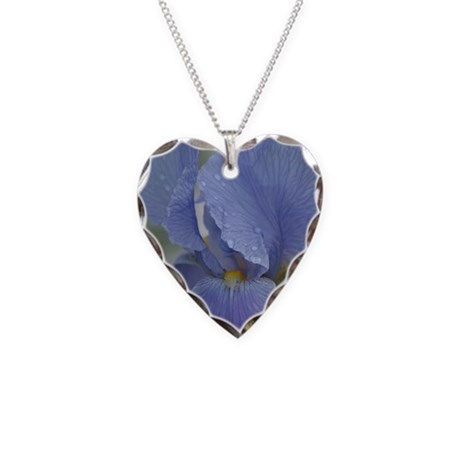 Iris Necklace Heart Charm