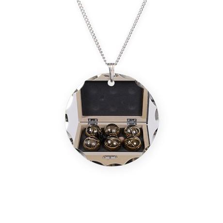 Bocce Ball Set Necklace Circle Charm