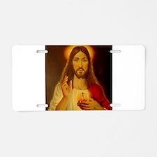 Sacred Heart of Jesus Christ Aluminum License Plat
