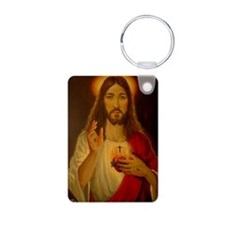 Sacred Heart of Jesus Christ Aluminum Photo Keycha