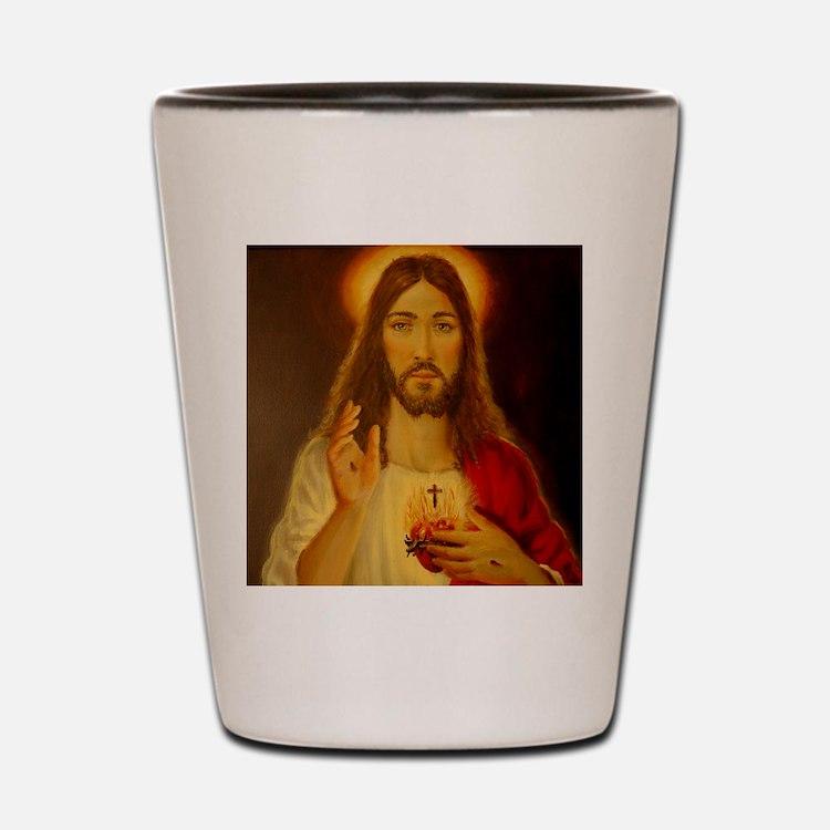 Sacred Heart of Jesus Christ Shot Glass
