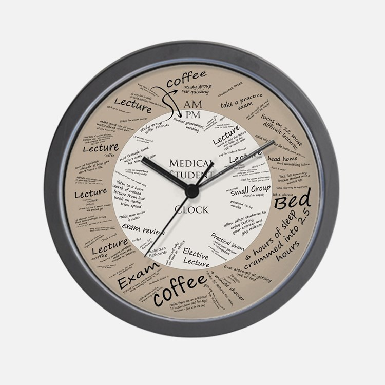 Medical Student Wall Clock