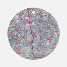 Vintage Map of Alabama and Georgia Round Ornament
