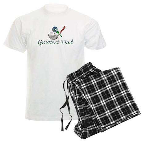 World's Greatest Golfer Dad Men's Light Pajamas