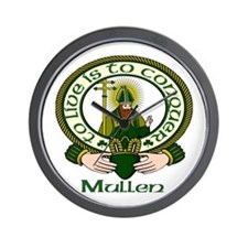 Mullen Clan Motto Wall Clock
