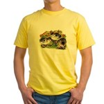 Flower Garden Guinea Keets Yellow T-Shirt