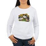 Flower Garden Guinea Keets Women's Long Sleeve T-S