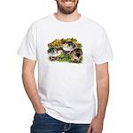 Flower Garden Guinea Keets White T-Shirt