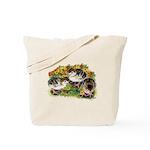 Flower Garden Guinea Keets Tote Bag