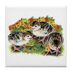 Flower Garden Guinea Keets Tile Coaster