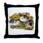 Flower Garden Guinea Keets Throw Pillow