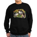 Flower Garden Guinea Keets Sweatshirt (dark)