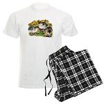 Flower Garden Guinea Keets Men's Light Pajamas