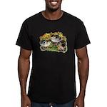 Flower Garden Guinea Keets Men's Fitted T-Shirt (d