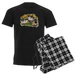 Flower Garden Guinea Keets Men's Dark Pajamas