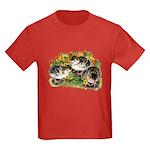 Flower Garden Guinea Keets Kids Dark T-Shirt