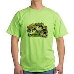 Flower Garden Guinea Keets Green T-Shirt