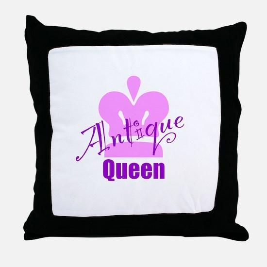 Antique Queen Throw Pillow