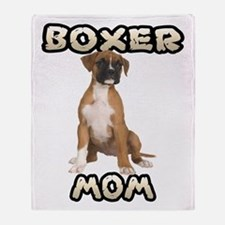 Boxer Mom Throw Blanket
