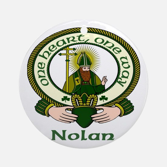 Nolan Clan Motto Ornament (Round)