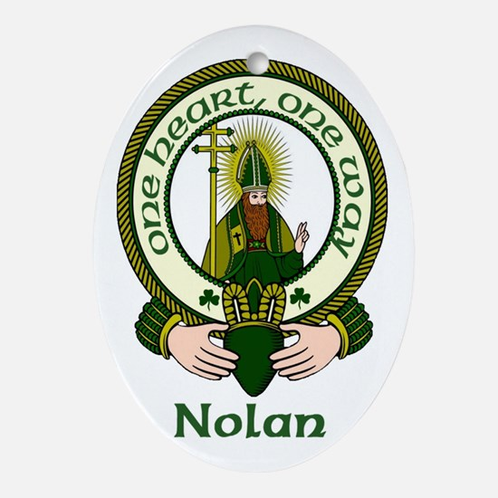 Nolan Clan Motto Oval Ornament