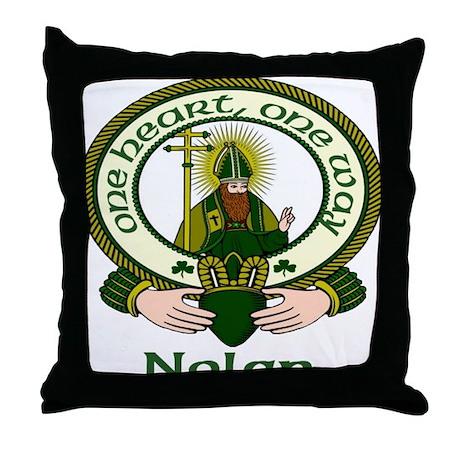 Nolan Clan Motto Throw Pillow