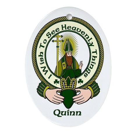 Quinn Clan Motto Oval Ornament